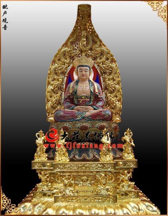 铜雕毗卢观音 观音佛像定制