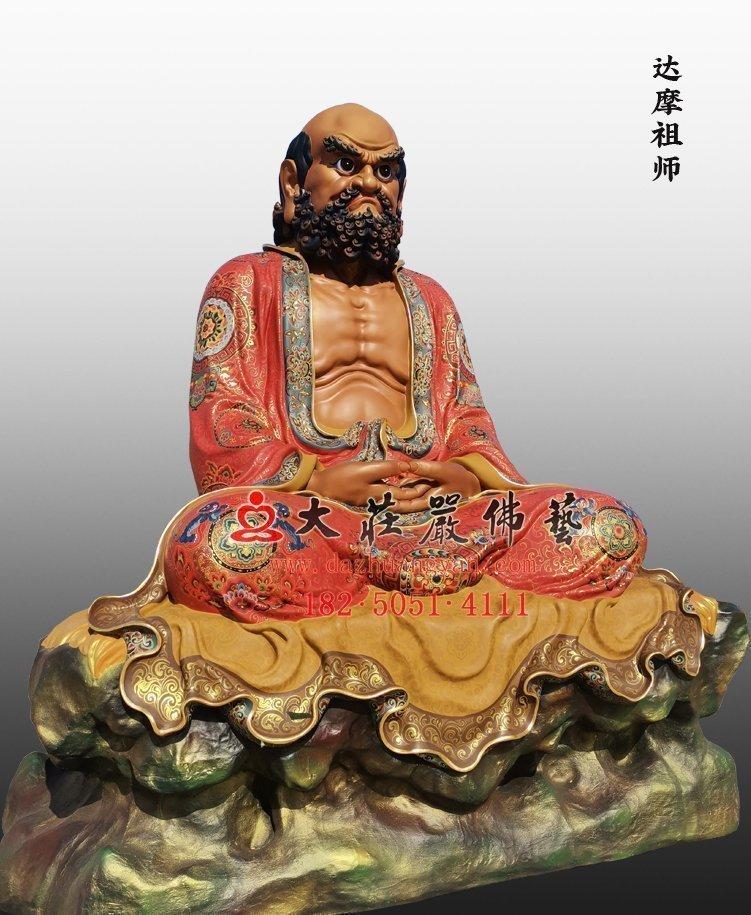 达摩祖师铜雕佛像