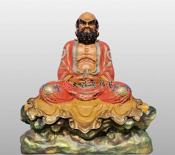 禅宗二十八祖达摩祖师铜雕佛像 铜雕菩提达摩佛像