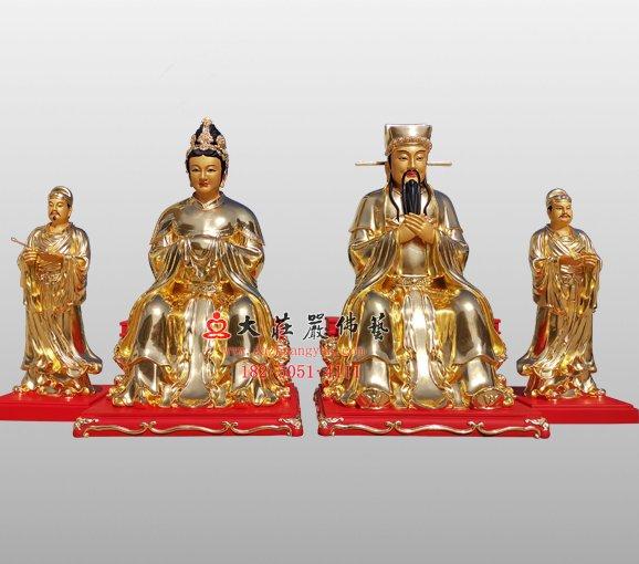 铜雕社公社婆神像 铜雕道教神像