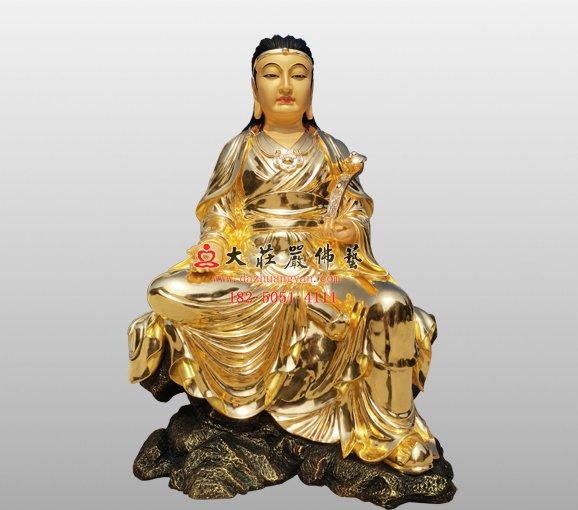 铜雕波斯匿王佛像 伽蓝菩萨铜雕佛像定制