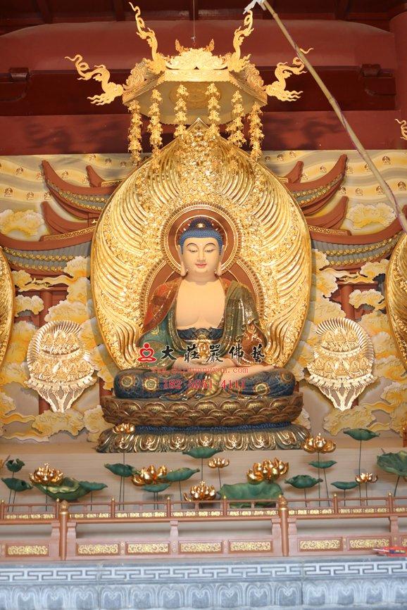 铜雕阿弥陀佛像 无量寿佛铜雕佛像 西方三圣无量光佛 接引佛雕塑