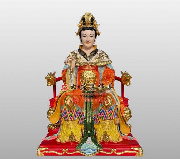 铜雕九天玄女弟子神像 铜雕道教神像定制