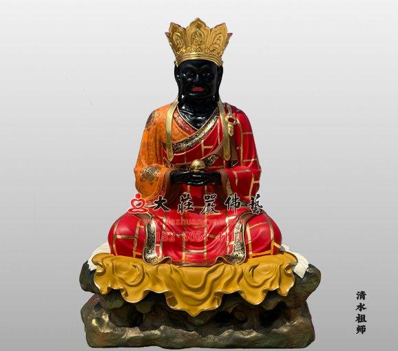 铜雕清水祖师佛像 麻章上人 黑面祖师 清水真人雕塑定制