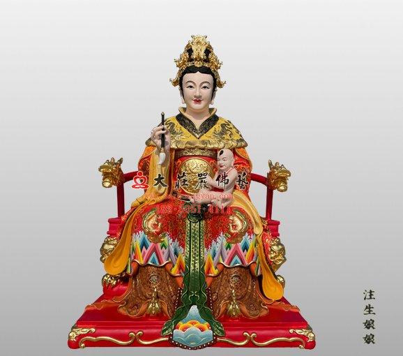 铜雕注生娘娘神像 注生妈神像 铜雕送子娘娘神像 成育之神注生娘娘铜雕神像定制