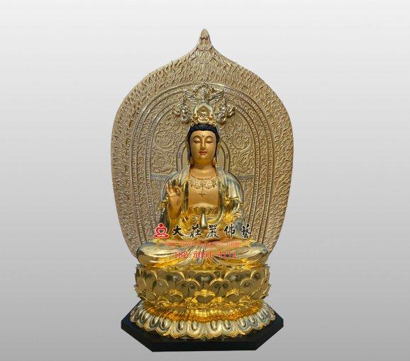 铜雕观音菩萨佛像 西方三圣观世音菩萨雕塑 观音佛像定制