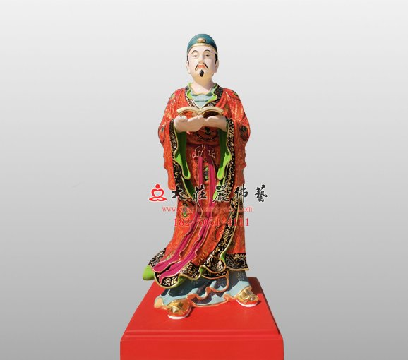 铜雕开闽王弟子神像 铜雕道教神像定制