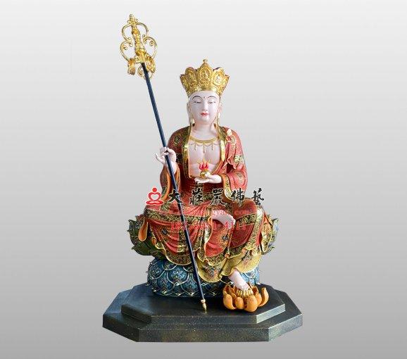 铜雕地藏菩萨 地藏王菩萨铜雕佛像 大愿地藏王菩萨铜雕佛像定制